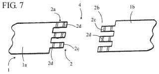 Procedimiento de fabricación de una banda de material en bucle.