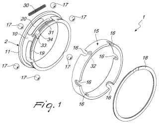Anillo de fricción para ejes de fricción, particularmente para bobinas de rebobinado.