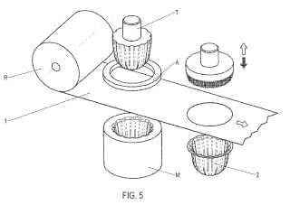 Recipiente de filtrado y permeable para sustancias adecuado para la preparación de bebidas.