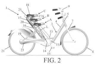 Bicicleta con sillín para el pilar del sillín.