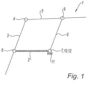 Arquitectura de montaje de una bandeja para cubrir el compartimento de equipaje de un vehículo automóvil.