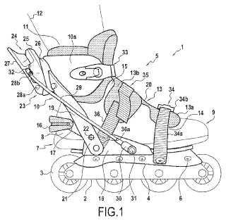 Sistema de fijación de un patín de ruedas.