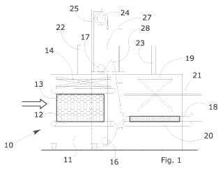 Máquina de embalaje diseñada para la compresión y embalaje de bloques de material expandido.