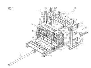 Dispositivo de giro de un equipo de aplanado, y un equipo de aplanado adaptado a cooperar con dicho dispositivo.