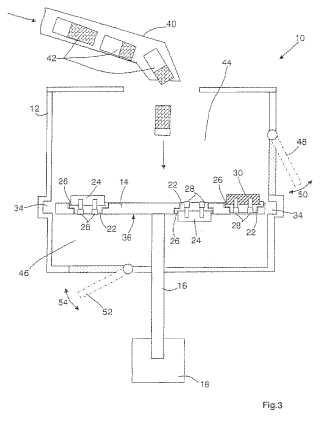 Dispositivo para procesar componentes formados por mezclas de materiales.