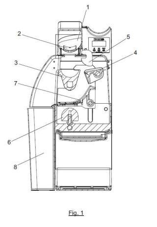 Máquina exprimidora de cítricos.