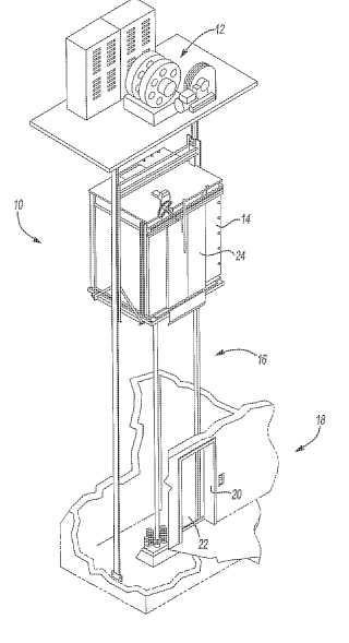 Entrada de caja de ascensor con ajuste por salto elástico.