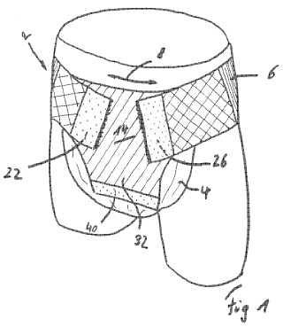 Dispositivo de inmovilización y soporte para un protector de incontinencia absorbente desechable.