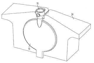 Método para llenar un recipiente que tiene por lo menos un componente flexible.