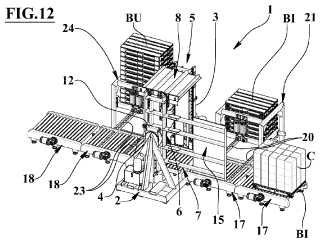 Dispositivo de separación de un palé de su respectiva carga.