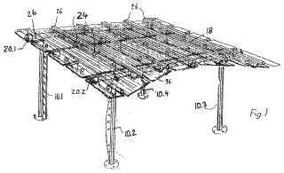 Kit de construcción para fabricar tejados.