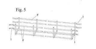 Bandeja portacables conformada por tramos de bandeja acoplables entre sí.