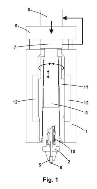 Electromandrino con control de fuerza axial para soldadura por fricción y otras aplicaciones.