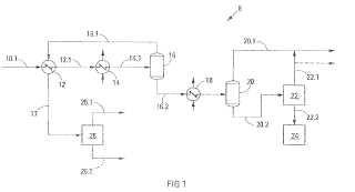 Separación de los componentes de una corriente hidrocarbonada de componentes múltiples que incluye etileno.