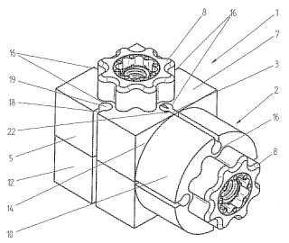 Componente de unión con elementos de construcción y conjunto de bloques modulares asociado.