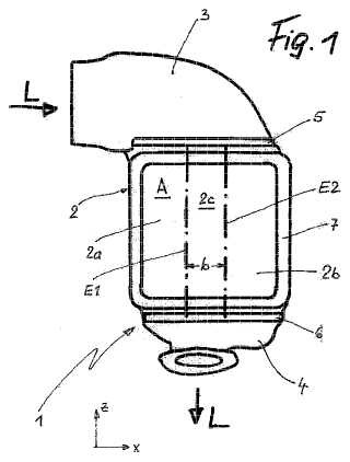 Refrigerador de aire de carga, en particular para motores grandes.