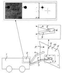 Método de localización de un agujero perforado con una perforadora de rocas.