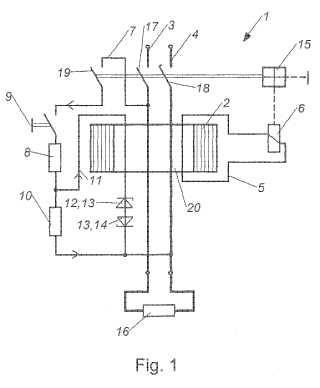 Conmutador de protección de corriente de fallo.