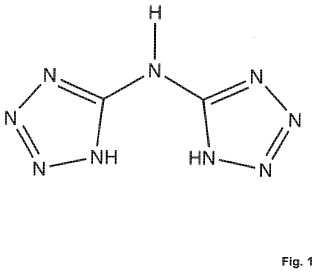 Utilización de una sal de bistetrazolilamina (BTA).