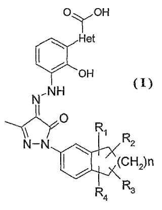 Sales de derivados azoicos de pirazolona biciclo-sustituidos, procedimiento de preparación y uso de los mismos.