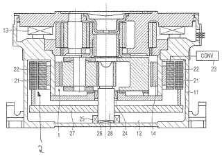 Motor-reductor de un sistema de accionamiento de molino.