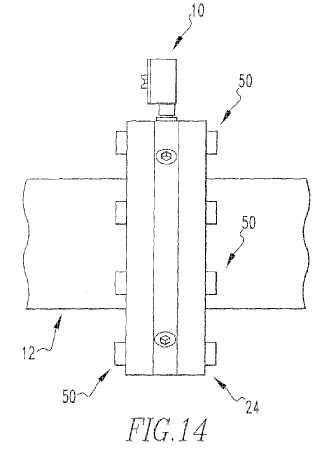 Método para obtener información acerca de un fluido en una tubería, elemento para ser colocado en una tubería, y método para la formación de dicho elemento.