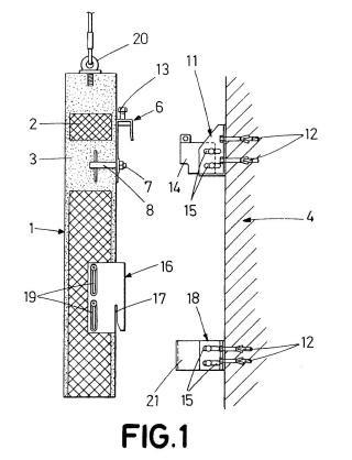 Dispositivo de anclaje para paneles de cerramiento en fachadas ventiladas.