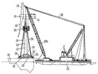 Instalación de estructuras marítimas.