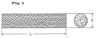 Dializador de fibra hueca con fibras huecas rizadas.