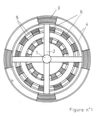 Hélices anticaída con aletas y cuñas, para transbordador espacial autónomo.