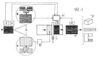 Procedimiento para la fabricación de un componente con una superficie de madera real impresa así como componente fabricado de acuerdo con el procedimiento.