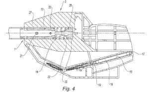 Pértiga de teleaccionamiento de herramienta manual controlada por una fuerza de empuje hacia el material de soporte.