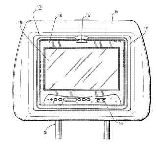 Sistema audiovisual montable en un asiento de vehículo y procedimientos de montaje y visualización del mismo.