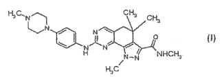 Uso de un inhibidor de quinasa para el tratamiento del timoma.