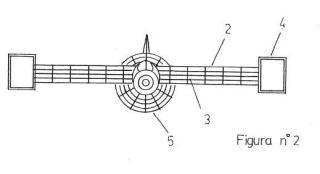 Alas de avión con tubos estabilizadores.