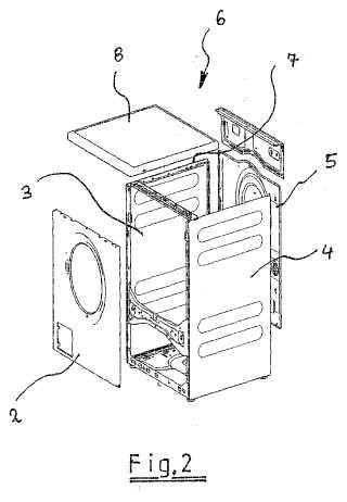 Máquina doméstica, como por ejemplo una máquina para el tratamiento de la colada o una máquina lavavajillas.