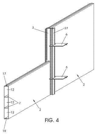 Muro de tierra armada mecánicamente estabilizado realizado en material compuesto.