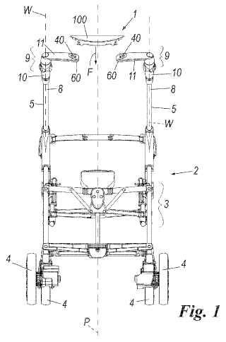 Dispositivo para transformar la empuñadura de una silla de paseo de tipo de cierre de paraguas en una empuñadura de una silla de paseo de tipo de cierre de libro.