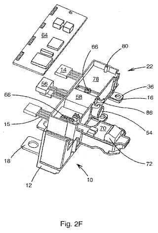 Caja de disparador electrónico para disyuntor, dispositivo de disparo electrónico y procedimiento de montaje.