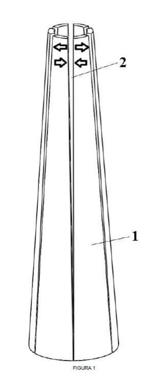 Estructura de soporte para aerogeneradores y molde para obtener tales estructuras.