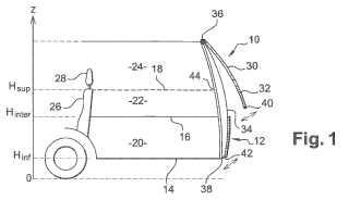 Módulo trasero destinado a ser montado en un vehículo automóvil.