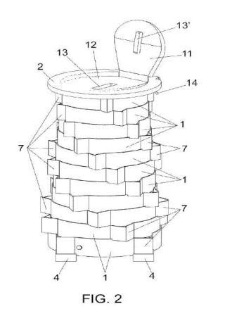 Estructura modular de altura regulable.