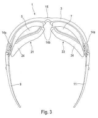 Gafas con piezas laterales con función de protección y/o de visión.