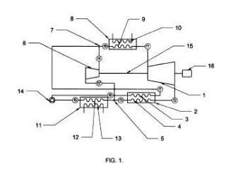 Dispositivo para generación de energía mecánica según un ciclo híbrido Brayton-Rankine regenerativo y equilibrado y procedimiento de uso.