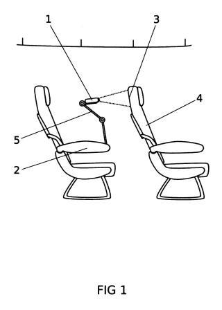 Dispositivo de entretenimiento audiovisual en aviones.