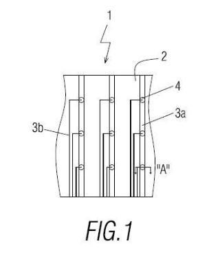 Sensor de presión extensible de gran área para superficies textiles.