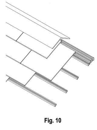 Sistema de cubrición de tejados inclinados con losetas de polietileno de alta densidad (PEAD).