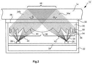 Dispositivo de sensor óptico para detectar humedad y procedimiento para fabricar este dispositivo de sensor.