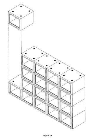Nichos modulares apilables para interior y exterior.
