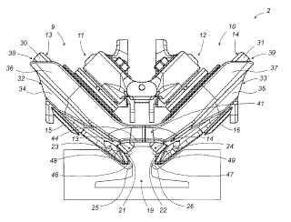 Dispositivo de seguridad anti-extracción para un conjunto de guiado que comprende dos rodillos inclinados que ruedan sobre un carril.